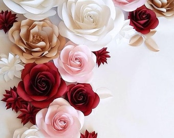 Wedding backdrop large paper flowers paper flower backdrop large paper flowers wedding paper flowers paper flowers wedding flower wall paper junglespirit Gallery
