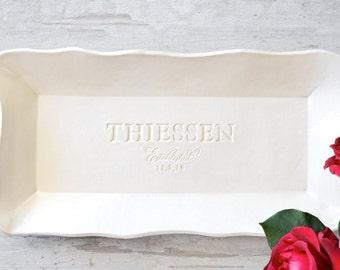 PERSONALIZE SERVING PLATTER Wedding Platter Large Ceramic Serving Tray Custom Pottery Anniversary Gift Large Ceramic Platter Appetizer Plate