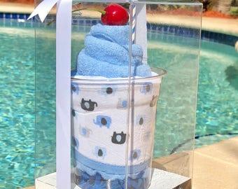 Blue Elephant-Hooded Bath Towel Milkshake