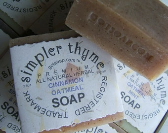 cinnamon oatmeal cold processed soap