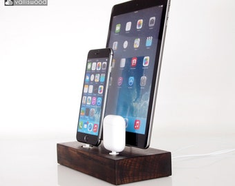 PRE -ORDER iPhone/iPad/AirPods dock - iPhone 7, iPhone 8, iPhone x dock, iPad 9.7 dock, iPad Air, iPad 10, birthday gift, handmade quality