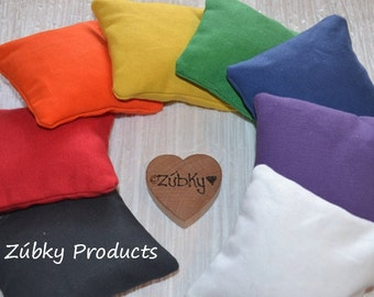 Rainbow Bean Bag Color Toss Toddler Game by Zúbky - Waldorf Montessori Learning Game for Children - Educational Fun this Summer