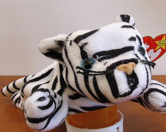 Albino Tiger Beanie Puppet By The Puppet Patch
