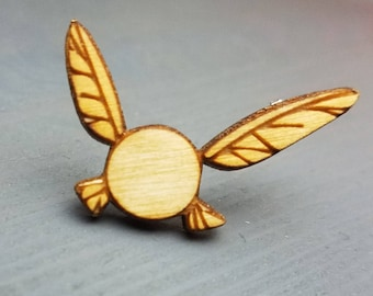 Legend of Zelda Naavi Pin | Laser Cut Jewelry | Wood Accessories | Wood Pin | Handmade |