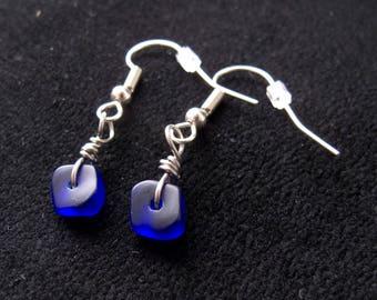 Blue 'Seaglass' earrings