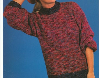 Original Vintage Ladies Sweater Knitting Pattern.