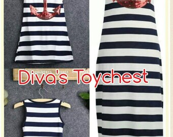 Anchor Dress-Woman Maxi-Beach Dress-Nautical Dress-FREE GIFT-Mom and Me-New England-Woman Maternity dress red anchor-beach cover up-summer
