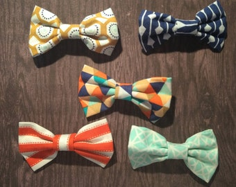 Geometric hair bows