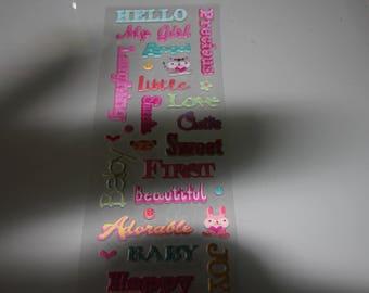 girl scrapbooking stickers
