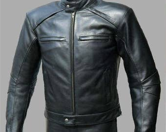 Leather biker jacket biker jacket men clothing men leather jacket black mens leather jacket men biker jacket choppers motorcross jacket