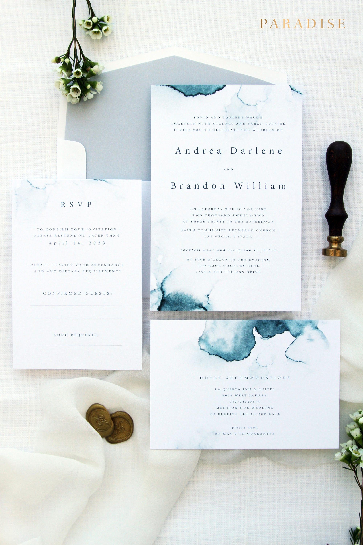 Zara 1 Wedding Invitation Sets Printable Invitations or