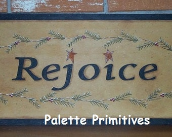 Rejoice Evergreen Plaque E-Pattern/Instant Download