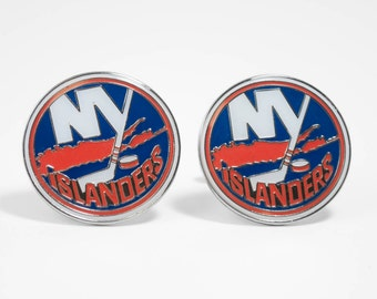 New York Islanders Cuff Links -- FREE SHIPPING with USPS First Class Domestic Mail