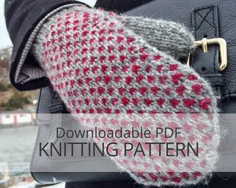 LITTLE HEART'S EASE Mittens [downloadable pdf knitting pattern]