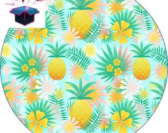 1 cabochon clear 18 mm tropical theme