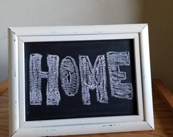 Upcycled framed chalkboard