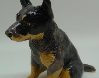 Australian cattle dog Ceramic Miniature Sculpture