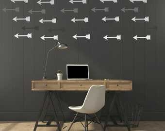 FREE SHIPPING Wall Decal. Arrows, 72 Wall Decal.  Shades Of Gray. Nursery Wall Decal. Housewares. Vinyl Wall Decal. Kids Decal. Diy Decal.