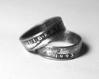 25th - 1993 Coin Ring  25th Birthday 25th Anniversary Gift Coin Jewelry made from a U.S. Quarter