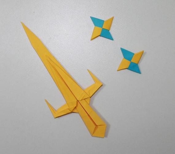 Ninja Sword 2 Ninja Star Origami Sai And Shuriken