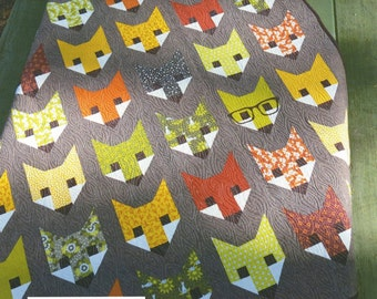 Fancy Fox Sewing Quilt Pattern Elizabeth Hartman