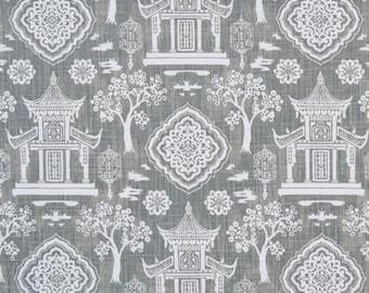 "Premier Prints Fabric-SPIRIT-Regal (Gray)-Or-Choice of Color- Fabric By The Yard-54"" wide-Canvas Slub-Decorator fabric"