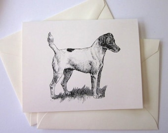 Jack Russell Terrier Dog Note Cards Set of 10 with Matching Envelopes