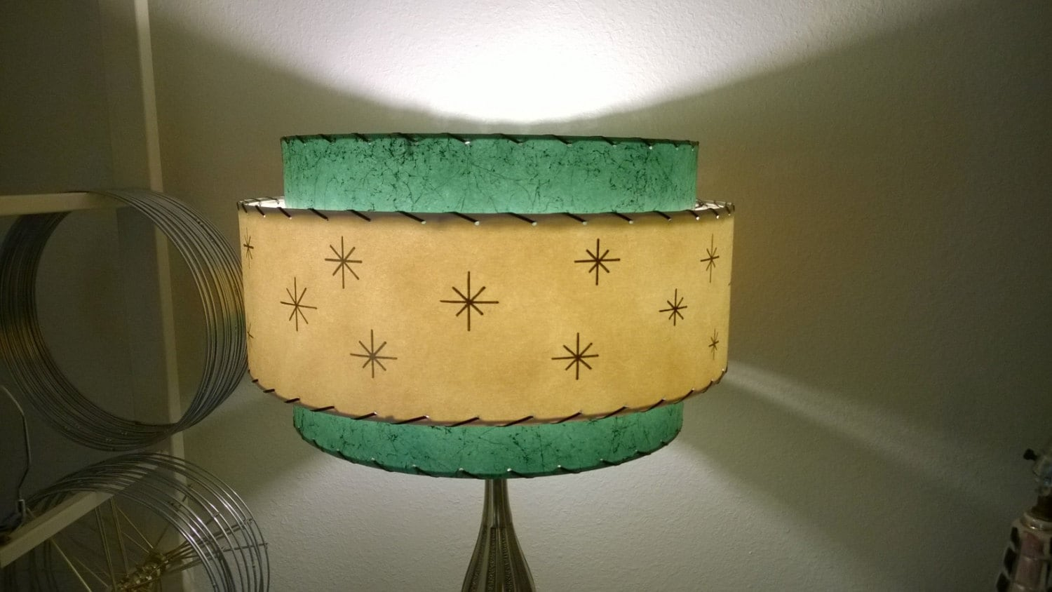 Mid century vintage style 3 tier fiberglass lamp shade zoom mozeypictures Gallery