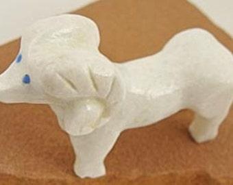Zuni Delbert seciwa white marbel Ram Fetish Carving