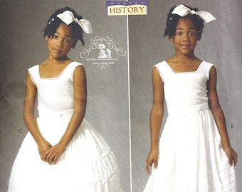 HISTORICAL COSTUME PATTERN / Undergarments / Addy - Marie Grace - Cecile - Civil War Era - 1860s / Child 2 to 5 / Girl 6 to 8