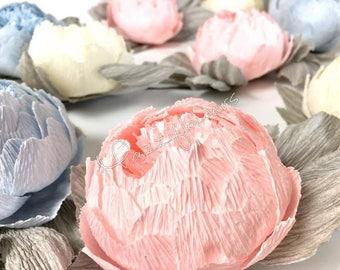 Bridal garland,wedding garland,paper flower garland,peonies paper flower,party garland,paper flower decor