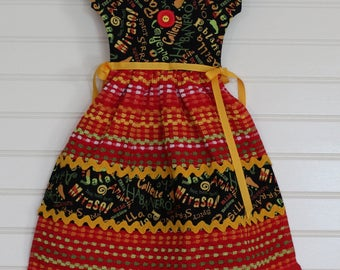 Bright Colorful Pepper Kitchen Towel Dress