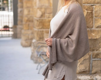 Taupe Wrap/Beige Cashmere Wrap/Taupe 100% Cashmere Wrap/Taupe Cashmere Scarf/Taupe Cashmere Travel Wrap