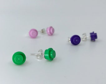 Lego stud earrings - a perfect gift for the geek in your life