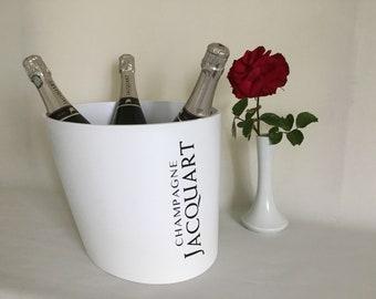 Champagne Bowl design. Large champagne cooler JACQUART Reims France. Vintage.
