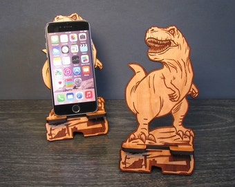 Jurassic World Desk Accessory T Rex Dinosaur iPhone Dock For Any Phone - Tyrannosaurus Rex - iPhone 6, iPhone Plus, Galaxy Jurassic Park