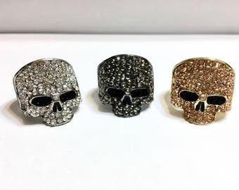 Blingy Skull Rings