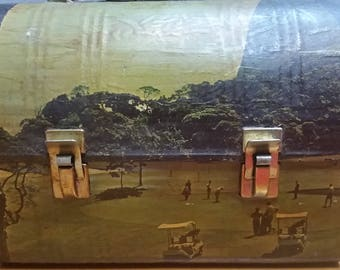 1950's Pan Am Lunchbox with Japanese and Golfing Scenes