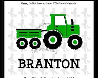 Farm tractor SVG file Farm Svg files Tractor DXF Farm animal Svg Birthday tractor SVG Boy shirt design Svg Cricut Tractor Silhouette Iron On