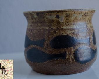 Vintage MCM Studio Pottery Stoneware Pot