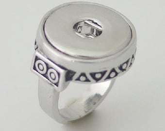 SIZE 7.5 Vintage Style Ring Snap Chunk 18 20MM Interchangeable Jewelry