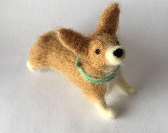 Needle Felted Pembroke Welsh Corgi Dog