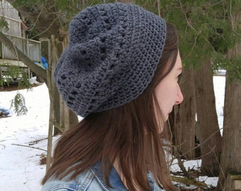Slouchy Beret-Style Hat / Esther