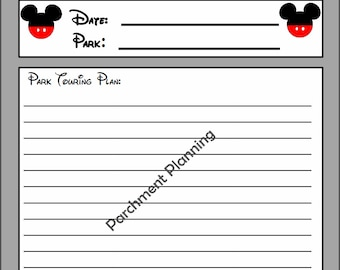 Only 0.99! Disney General Daily Touring Planning Page