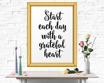 Printable Art, Start Each Day.. Office Wall Art, Motivational Print, Modern Decor, Inspirational Quote, Office Art, Typography