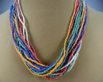 "fun 20"" long 14 strand necklace"