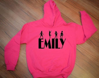 Personalized Tap Dance Hoodie Sweatshirt for Girls