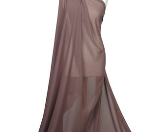 Premium Quality Plain Mocca Chiffon Soft Polyester Sheer Fabric Dress Bridal Material CH01