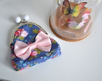 Floral fabric purse