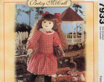Free Us Ship Craft Sewing Pattern Uncut McCall's 7933 Betsy Mccall Doll & Clothes Uncut 1995 Out of Print